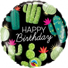 Folieballong Birthday Cactus