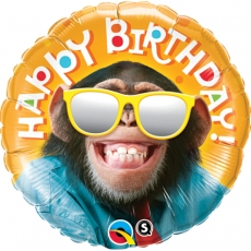 Folieballong Birthday Smilin Chimp