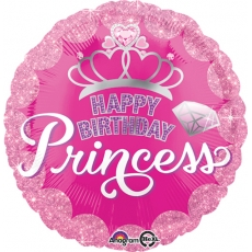 Folieballong Princess Birthday