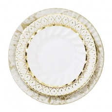 Papptallerkener Party Porcelain Gold , 18 stk.