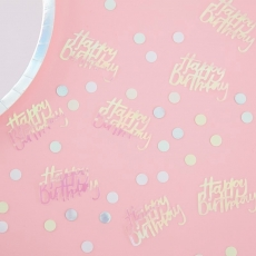 Konfetti Happy Birthday - Pastel Party