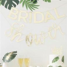 Banner Bridal Shower - Botanical Hen, 1,5 m