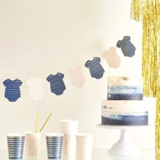 Banner Pink & Navy Gender Reveal, 2 m