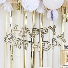 Banner Happy Birthday fringe gull - Mix It Up, 3 m