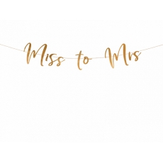 Banner Miss to Mrs rose gold, 2 m