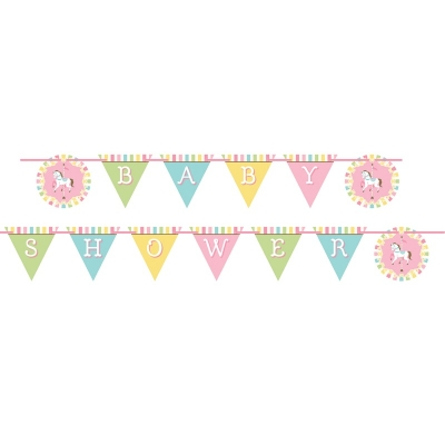 Flaggbanner Carousel Baby Shower, 2,4 m