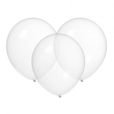 Ballonger gjennomsiktige, 3 stk.