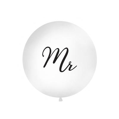 Stor ballong Mr, hvit/svart