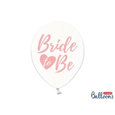 Ballonger Bride to Be klar/rosa, 5 stk.