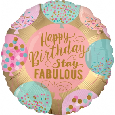 Folieballong Birthday Stay Fabulous