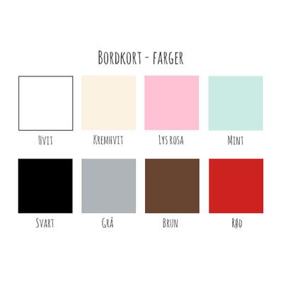 Bordkort Elegant Frame - farger