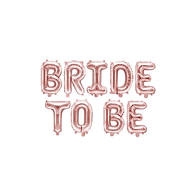 Ballongbanner Bride To Be rose gold
