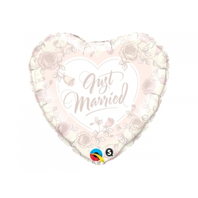 Folieballong Just Married pastel
