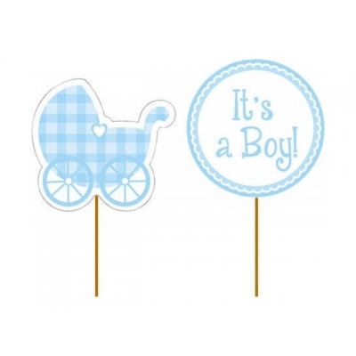 Cupcake toppers It's a Boy, 12 stk.
