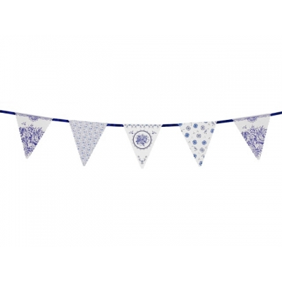 Flaggbanner Party Porcelain, 4 m