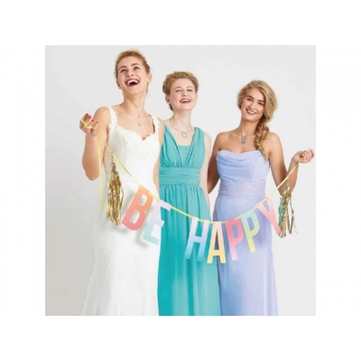 Talking Tables banner Be Happy m/tassel