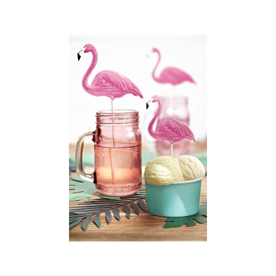 Toppers Flamingo, 6 stk.